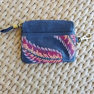 FOSSIL Leather Feather Wallet/ID Purse